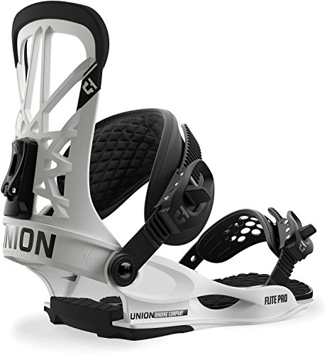 Snowboard Binding Ratchet - Union Flite Pro Snowboard Bindings White Mens Sz M (7-10)