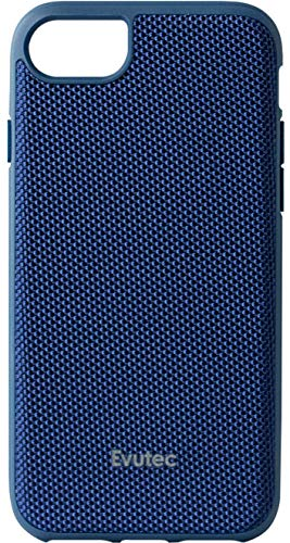 Evutec AERGO Series Case Compatible with iPhone 8 Plus,Ballistic Nylon (Blue)