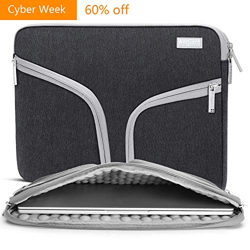 Laptop Sleeve 15.6 inch,Egiant Shockproof Padded Protective Case Bag Compatible Chromebook 15|Asus X551/F555|Aspire 15|Dell Inspiron 15.6|15.6