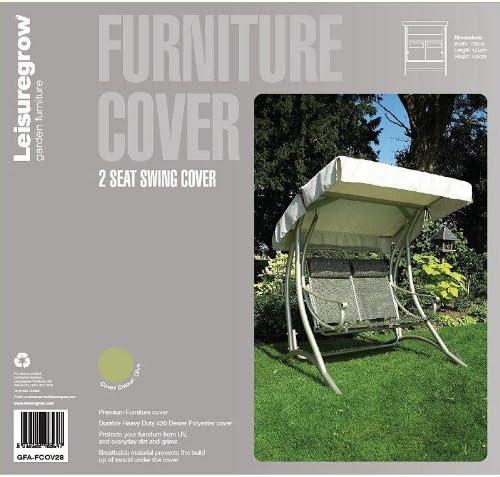 Leisuregrow 2 Seater Swing Cover 130cm X 155cm Garden Furniture Cover Outdoor Patio Cover Swing Seat Cover Green Amazon Co Uk Garden Outdoors