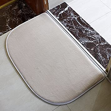 YANGFEIFEI-DD Toalla de baño Anti - resbaladizo Terreno Mat tapete de baño Alfombra de Entrada Absorbente de Agua baño Puede Lavar en casa 40 * 60CM,Blanco: ...
