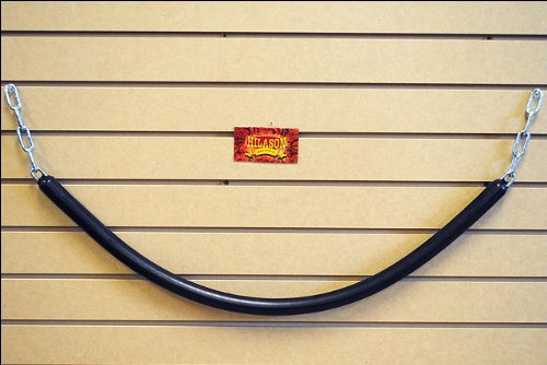 (HILASON Black Western Horse TACK Rubber STALL Guard with Chain Ends)