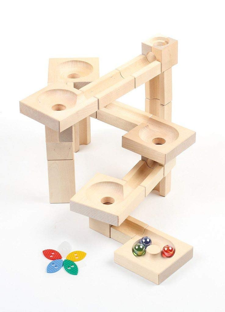 Varis Wooden Marble Run - Fix and Lock Twister Edition