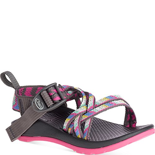Chaco Baby-Girl's ZX1 Ecotread Kids Sport Sandal, Fletched Pink, 10 Medium US Toddler