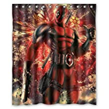 Contracted Game and Comics Deadpool Custom Shower Curtain 60x72 Inch Super Light
