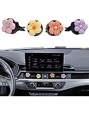 MINI-FACTORY Decoración interior del coche, 4 piezas, lindas flores coloridas, patrón de cerezo en flor interior del coche encanto de ventilación de aire accesorios de coche