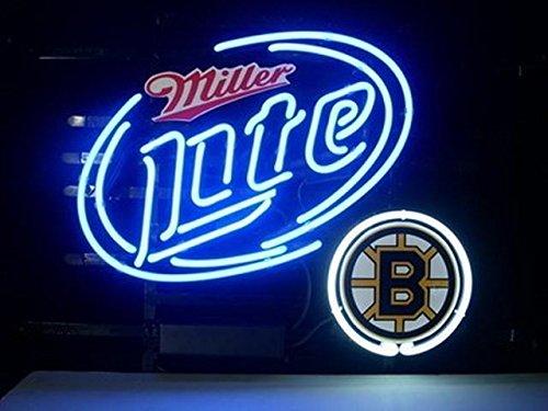 "Desung 19""x15"" Boston Bruin Miller Lite Neon Sign Light Lamp (VariousSizes) Beer Bar Pub Man Cave Handicraft DC17"
