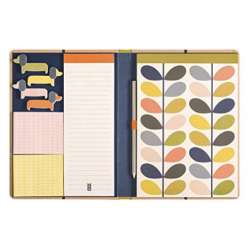 Kraft Sketchbook & Sticky Notes Set | Linear Stem Design - Orla Kiely Stationery