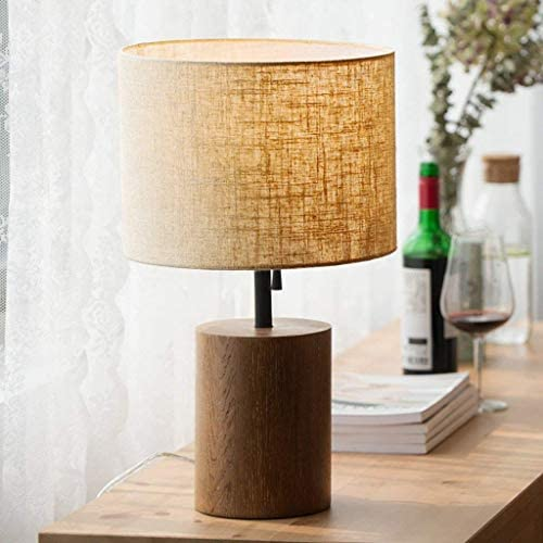 Table lamp bedroom Desk Lamp Wood Solid Wood Nordic Japanese Style Lamp Bedroom Warm Homestay Bedside Table Lamp Creative Modern Minimalist Warm Light Lamp