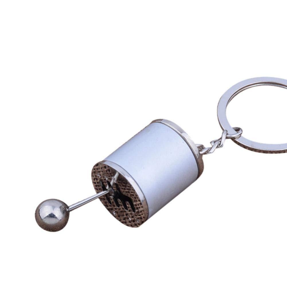Gaddrt Keychain Gear Knob Shift Stick Box Metal Key Chain Keyfob Car Keyring Gift Red