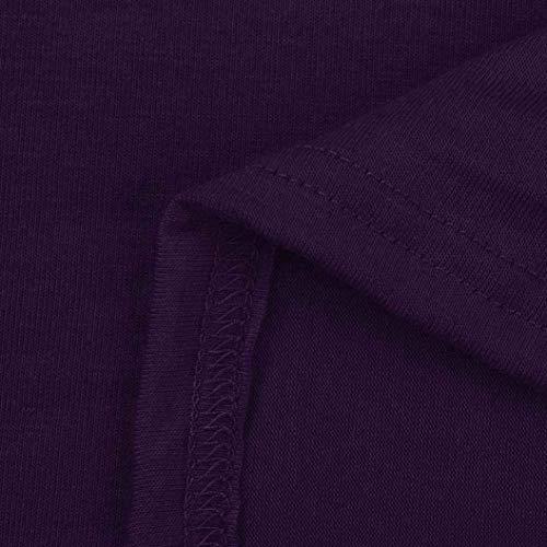 Manica Donna Button Monocromo Classiche Hipster Fashion Magliette Donne Corta Violett Elegante Estivi Moda Giovane Rotondo Tops Fit Collo Vintage Blusa con Camicetta Slim Casuali zwfq4rxzZ