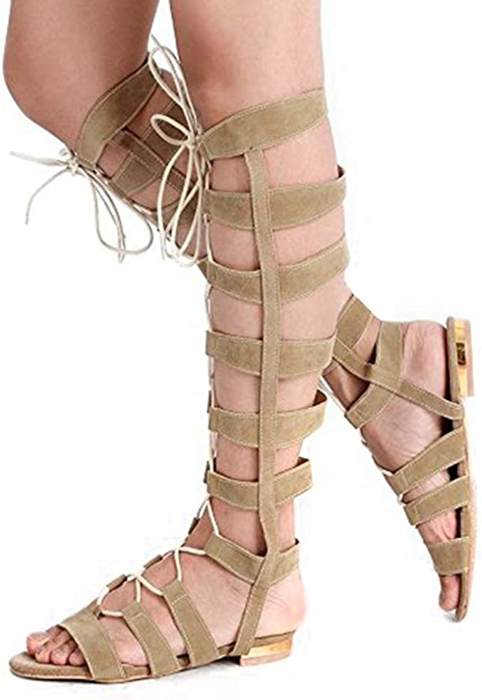 Shoe'N Tale Womens Lace Up Knee High