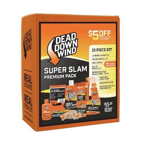 Dead Down Wind Hunting Scent Eliminators – Super Slam Premium Pack, Complete Odor-Elimination System, 25 Piece Kit