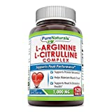 Pure Naturals L-Arginine/L-Citrulline Complex (1000 Mg – 120 Tablets) * Combines Two Amino Acids with Potential Health Benefits * Supports Energy Production * Aids to Improve Athletic Performance an Review