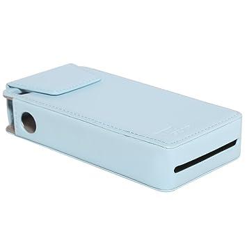 Ritz Gear Funda de Piel Sintetica para impresora Kodak Mini PM210 - Diseño personalizado de ajuste perfecto (Azul)