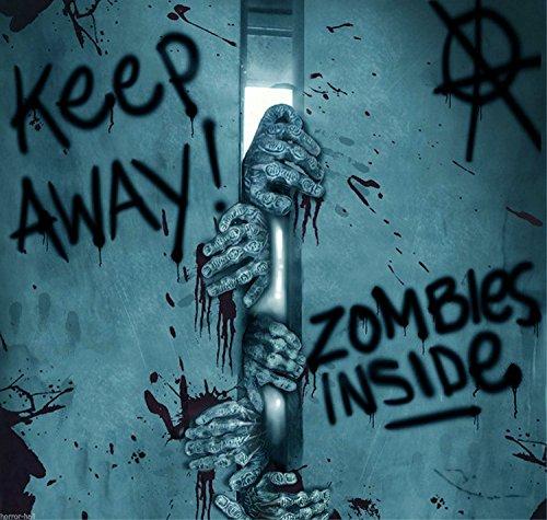 ZOMBIE INSIDE-DOOR Keep Away-Turn Back- COVER-Walking Dead Horror Prop Decoration