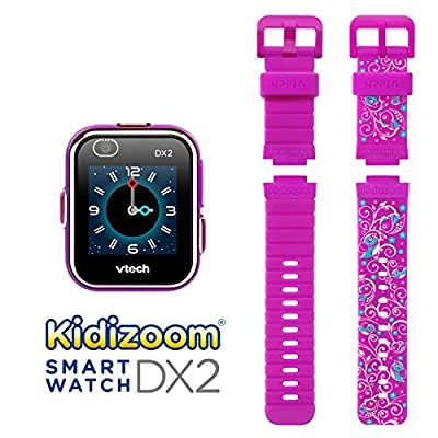 VTech Kidizoom Smartwatch DX2 - Special Edition - Floral Birds with Bonus Vivid Violet Wristband by VTech