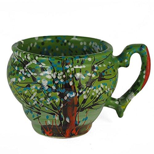 Handmade Ceramic Mug Cup Coffee Tea Cocoa Milk Water Natural Eco Friendly Mug Superior Quality Art Style
