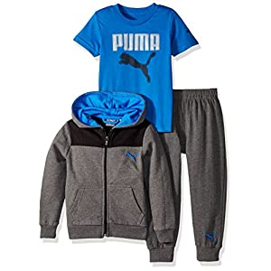 PUMA Boys' Three Piece Hoodie and Tee Set