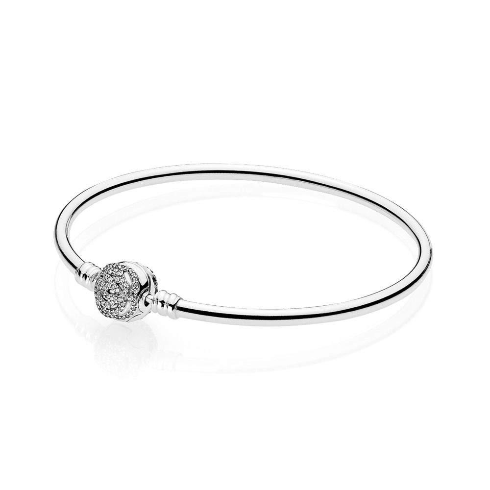 Pandora Disney 7.5'' Bangle Beauty & the Beast Sterling Silver Jewelry 590748CZ19