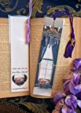 Orange Tabby Kitty Cat Kitten Vanya Napping Sleeping Under the Spring Wisteria Window Victorian Parlor Photo Bookmark w/Cloisonne Fish Beads Laminated Bookmark