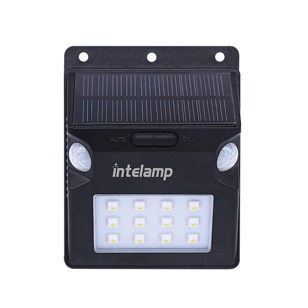 Applique da parete solare esterna, luce di sicurezza a LED Coloreata IP65 impermeabile sensore di movimento PIR