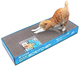 MicroMall 2-Pack Dual-sided Cat Scratching Corrugated Board Scratcher Bed Pad Toy with Catnip Review