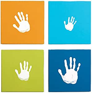 Pearhead Canvas Handprint Wall Art Set, Blue (Discontinued by Manufacturer)