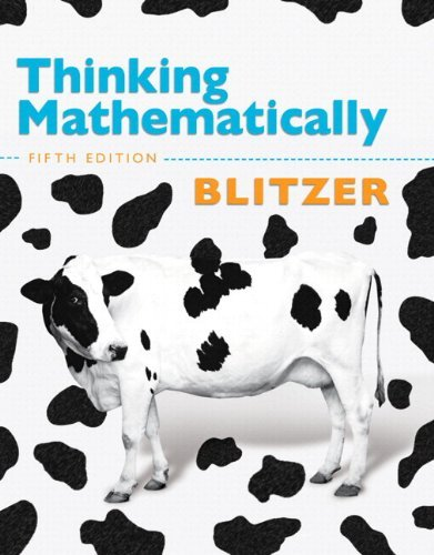 Download By Robert F. Blitzer Thinking Mathematically with Integrated Review with Worksheets plus MyMathLab with Pearson eText -- (1st Edition) pdf