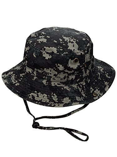 (MG Men's Washed Cotton Twill Chin Cord Outdoor Hunting Hat, Suburb Digital, XL)