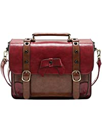 Vintage Crossbody Messenger Bag Satchel Purse Handbag Briefcase for Women & Girl