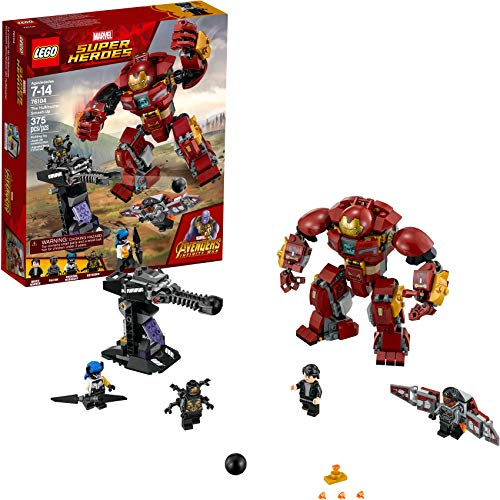 LEGO Marvel Super Heroes Avengers: Infinity War The Hulkbuster Smash-Up 76104 Building Kit features Proxima Midnight, Outrider, and Bruce Banner figures  (375 Pieces) (Lego Building Gun)