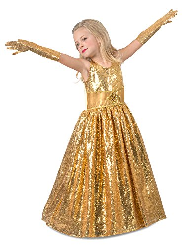 Princess Paradise Golden Gala Showstopper Child's Costume, Medium