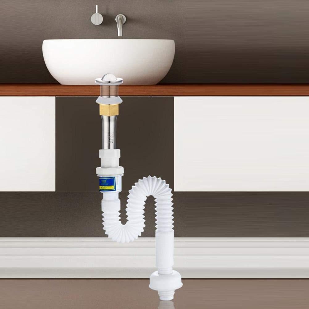 SUPERLOVE Abwasserschlauch F/ür Abwasser,3,6 M Ablaufschlauch F/ür Abflussrinne PVC PP Einziehbare Tragbare Waschmaschine Ablassschlauchverl/ängerung Deodorant F/ür Sp/ülbecken Waschtisch