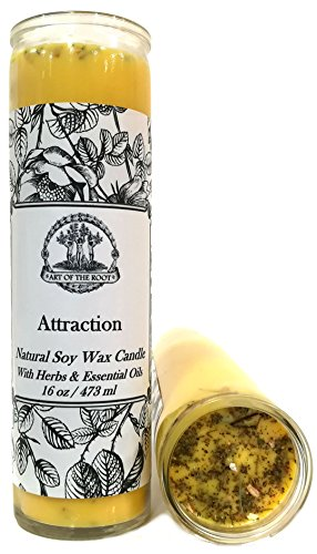 Art of the Root Attraction Scented 7 Day SOY Herbal Spell Candle (Fixed) for Love, Money, Prosperity, Manifestation & Success (Wiccan, Pagan, Hoodoo, Magick)