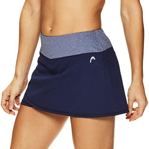 HEAD Women's Athletic Tennis Skort - Performance Training & Running Skirt - Medieval Blue Rally, X-Large ()