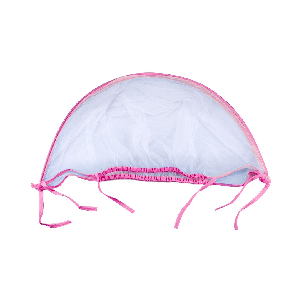 Topwon Universal Full Cover Baby Mosquito Net/Insect Mesh Netting Fits Most Strollers Bassinets, Cradles Chair seat and Car Seats Safe Elastic Design - Pink by Topwon (Image #5)