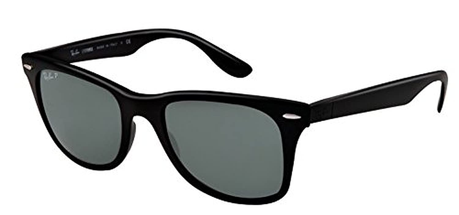 4ad14b1f20 Amazon.com  Ray-Ban Liteforce RB 4195 Sunglasses Matte Black Green  Polarized 52mm   HDO Cleaning Carekit Bundle  Clothing