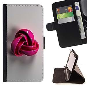 - Queen Pattern FOR Apple Iphone 6 PLUS 5.5 /La identificaci????n del cr????dito ranuras para tarjetas tir????n de la caja Cartera de cuero cubie - pink plastic grey pattern symbo