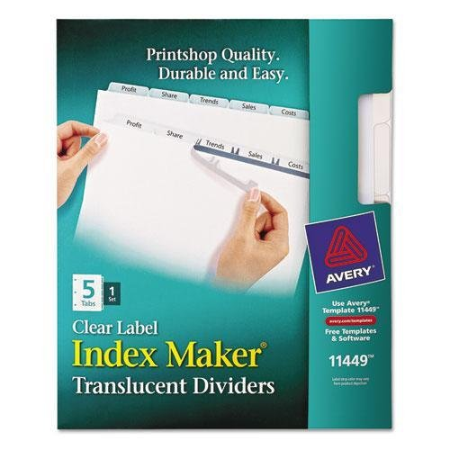 (AVE11449 - Avery Index Maker Translucent Clear Label Divider )