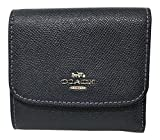 Coach Crossgrain Small Wallet with Flamingo Print Interior F29402 Midnight Multi