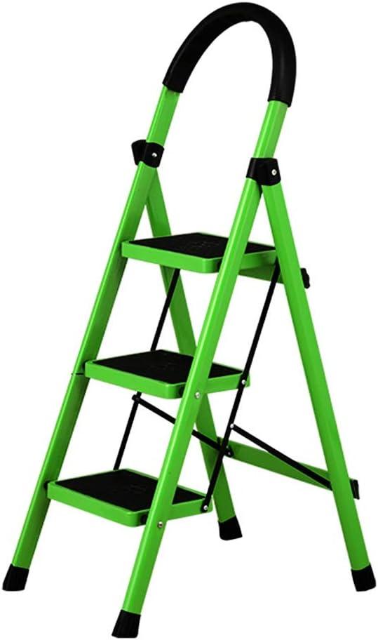 Qi Tai Escalera retráctil, Escalera plegable for el hogar de 3 capas, Escalera interior engrosada, Escalera móvil, Escalera móvil, Escalera móvil de uso múltiple, Peso del rodamiento 150 kg Escalera t: Amazon.es: