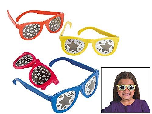 Star Print Mirrored Lens Sunglasses (12 Pack) 5