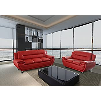 Amazon Com B 205 Modern Contemporary White And Red