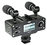 Panasonic Lumix DMC-G7 Digital Camera External Microphone Vidpro XM-AD5 Mini Pre-Amp Smart Mixer with Dual Condenser Microphones for DSLR's, Video Cameras and Phones