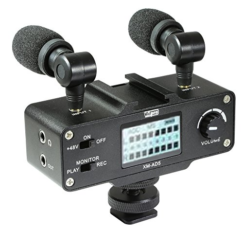Panasonic Lumix DMC-G7 Digital Camera External Microphone Vidpro XM-AD5 Mini Pre-Amp Smart Mixer with Dual Condenser Microphones for DSLR's, Video Cameras and Phones by VidPro