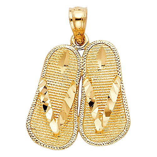 14k Yellow Gold Sandal Pendant 14k Yellow Gold Sandal