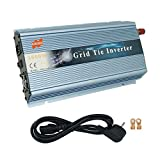 MarsRock 1000W 12V Wind 18V Grid Tie Pure Sine Wave MPPT Solar Power Inverter DC 10.5V-30V AC 110V 120V Workable for USA Selectable Blue Gold Silver Colors (110V Blue)
