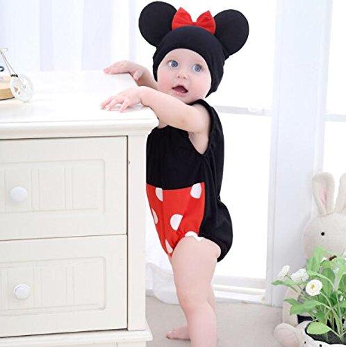 Bébé Fille Costume Costume Animaux Tuque Une Seule Pièce Ensemble - Panda 3-12 Mois