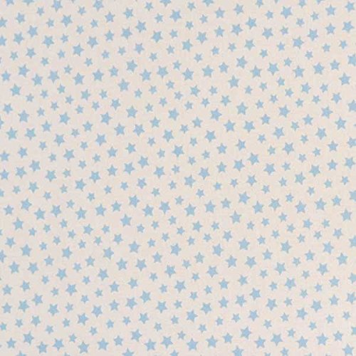 Made In USA SheetWorld Fitted Cradle Sheet Stars Pastel Blue Woven